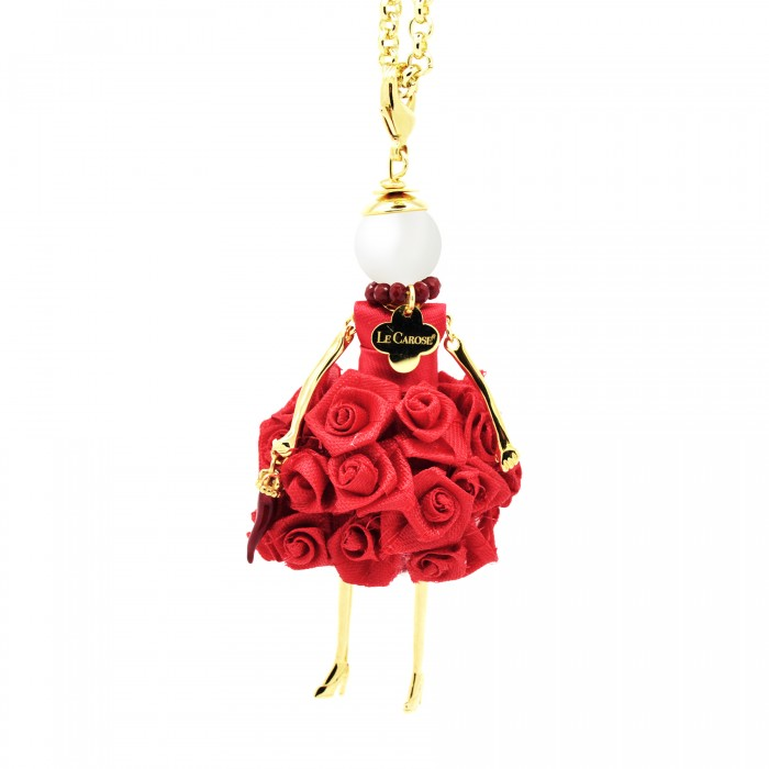 Le Carose doll pendant with long necklace coccolosa