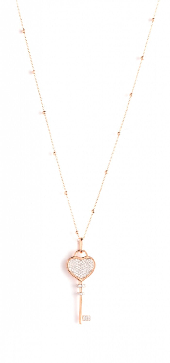 Le Carose necklaces silver 925 key love