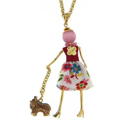 le Carose i love my dog doll pendant necklaces cadog