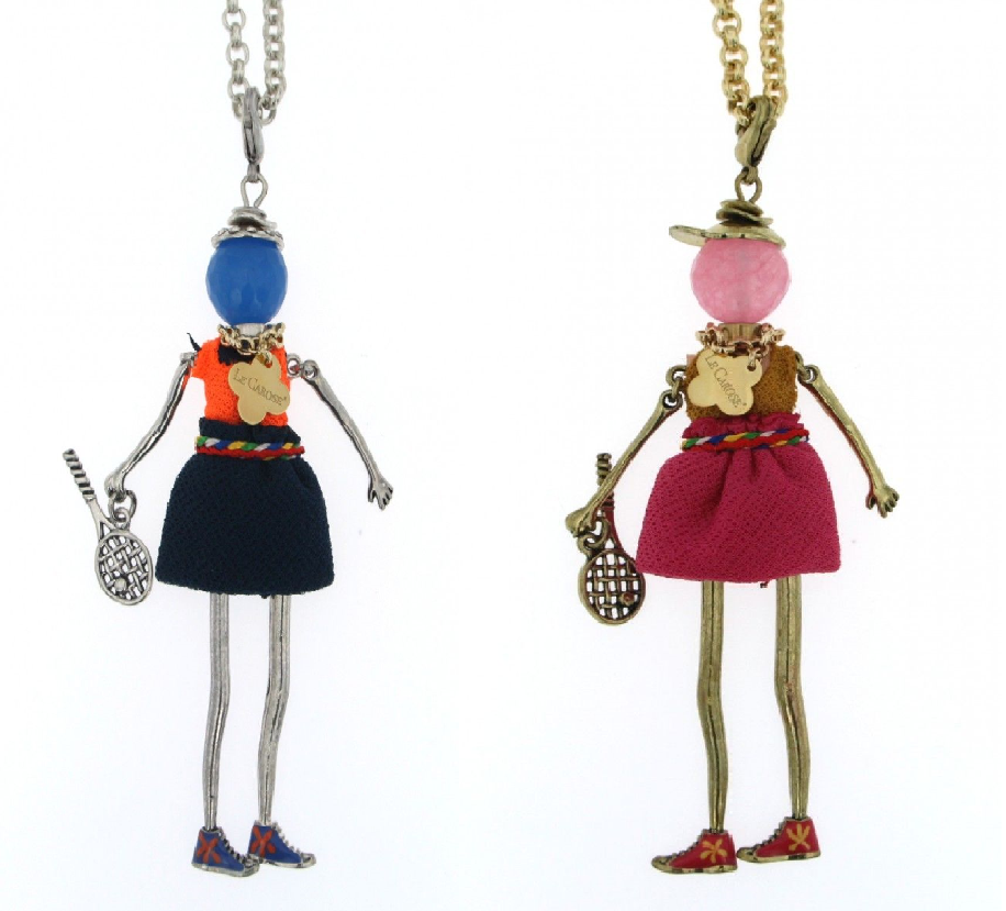 Le Carose long necklaces dolls Match Point