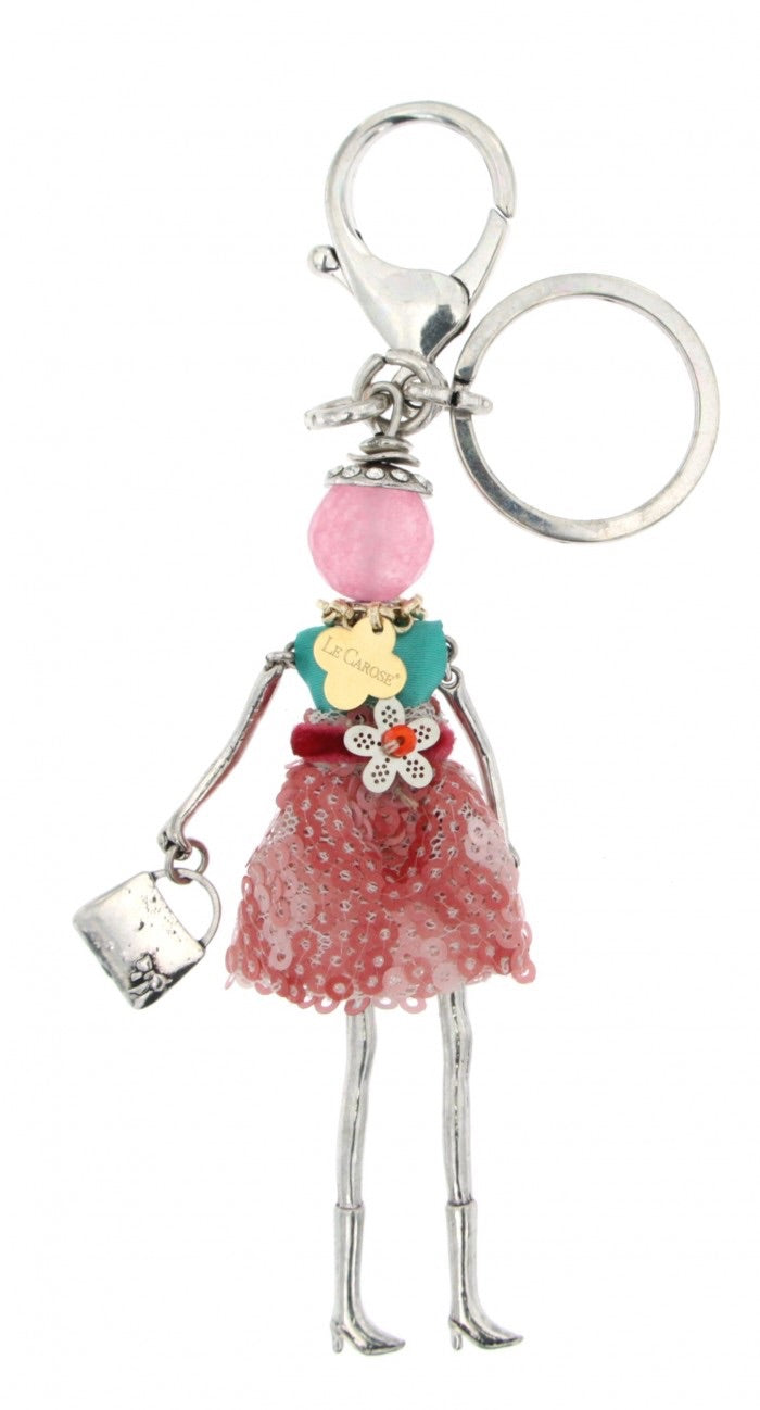 Le Carose  key chain dolls pendant handmade in Italy