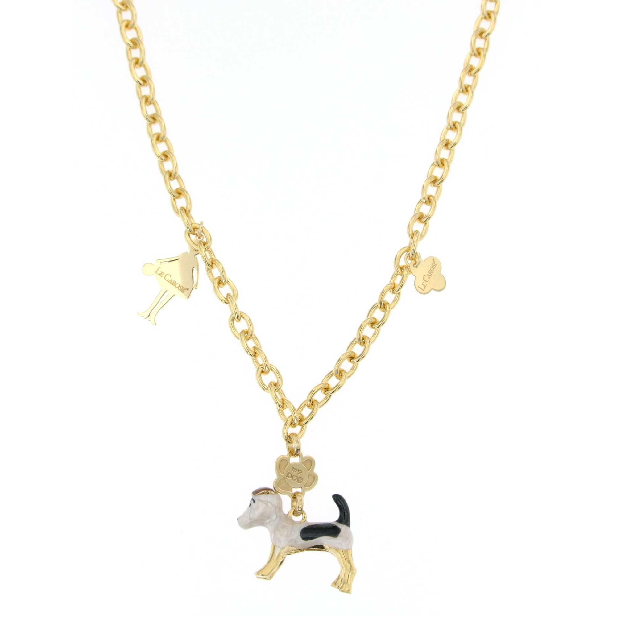 Le Carose necklaces i love my dog big chain