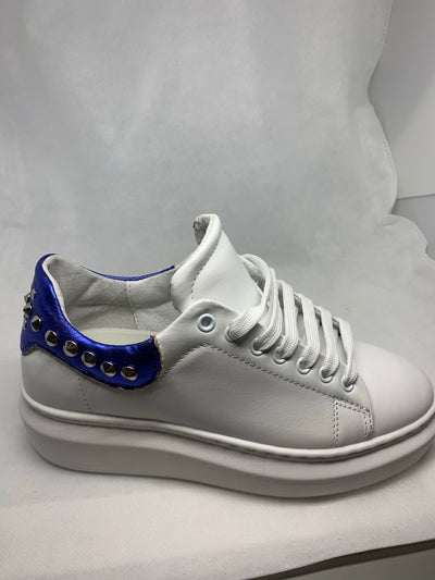 Shoes sneakers white and blue