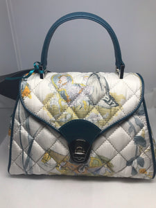 Donatella Brunello purse made with Hermes Scarf and leather