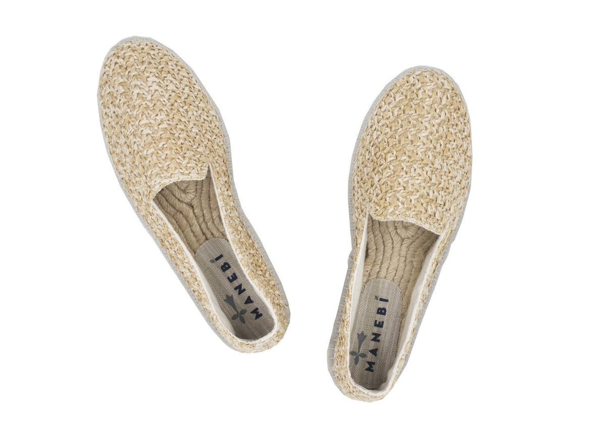 Shoes Espadrillas jucatan rafia net color beige