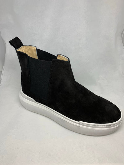 Shoes woman half boots black suede