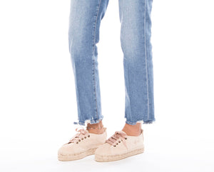 Shoes sneakers champagne beige suede