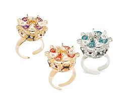 Le Carose rings Manege silver or gold plated