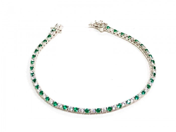 LE CAROSE TENNIS BRACELET SILVER AND GOLD PLATED