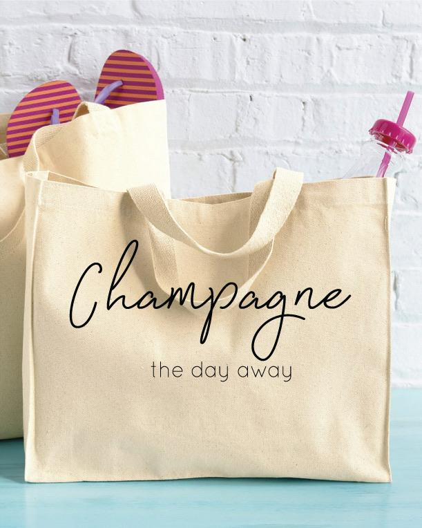 Champagne the day away Tote bag