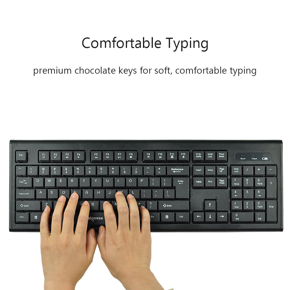 Aigo Wireless Keyboard And Mouse Combo Spill Resistant With Dell Usb Soft Chocolate Keys