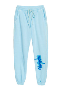 BABY BLUE GRAFFITI PANT