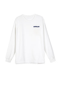 LOGO WHITE LONG SLEEVE