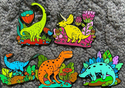 Dino Pins Series I Set