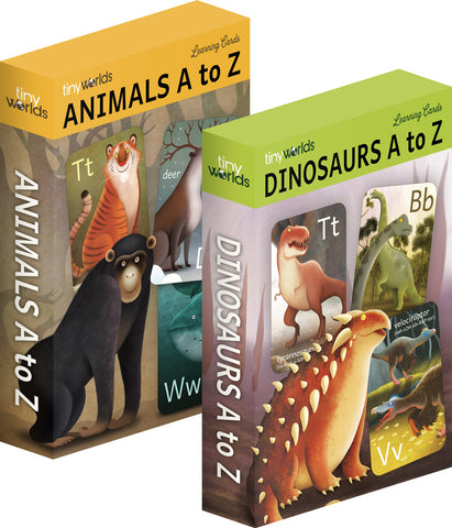 The Wildlife Bundle - Dinosaurs A to Z cards & Animals A to Z cards