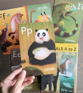 The A to Z Bundle! (Set of 3) - Dinosaurs A to Z cards, Animals A to Z cards and Occupations A to Z cards!