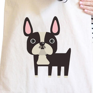 Cute Boston Terrier Canvas Bag