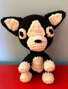 Hand-Crocheted Boston Terrier - So cute!