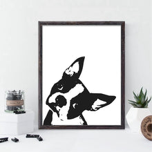 Boston Terrier B&W Wall Art