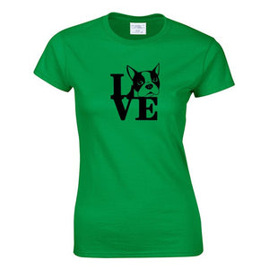 Boston Terrier LOVE T-Shirt - 30 colours to choose from!
