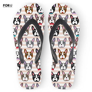 Boston Terrier Flip Flops! 3 different styles!