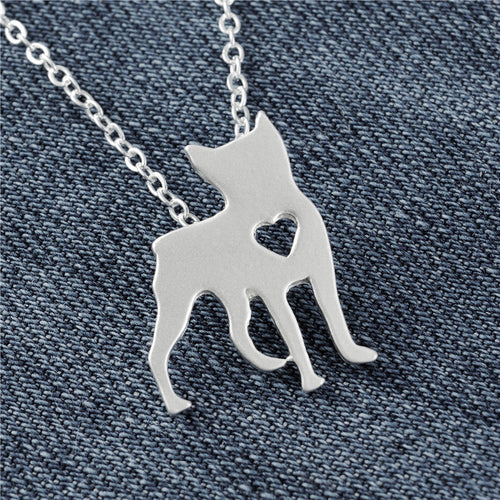 Boston Terrier Heart Pendant Necklace