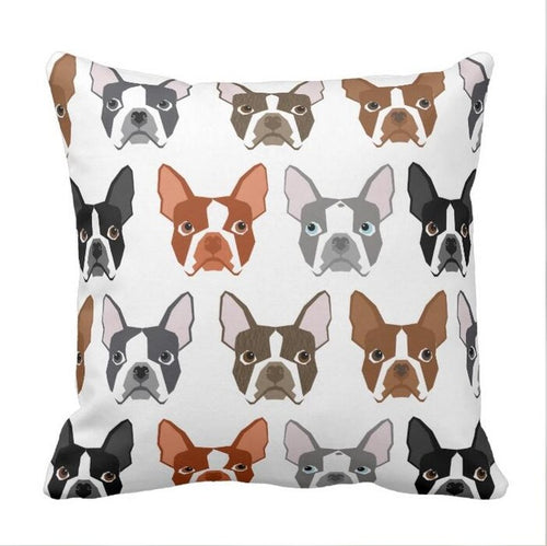 Boston Terrier Cushion Covers - 10 cute styles
