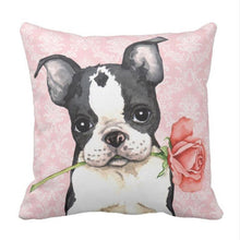 Boston Terrier Valentines Love Cushion Cover