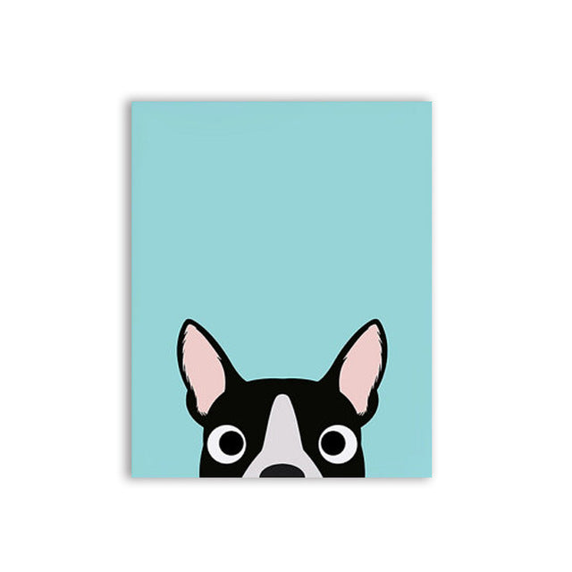 Boston Terrier Modern Wall Art Prints