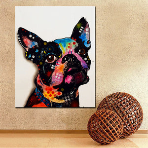 Boston Terrier Canvas Wall Art