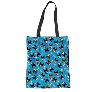 Boston Terrier Floral Tote Bag - 6 different patterns!