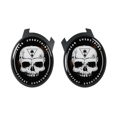Skull Elite Speaker Plates - Black