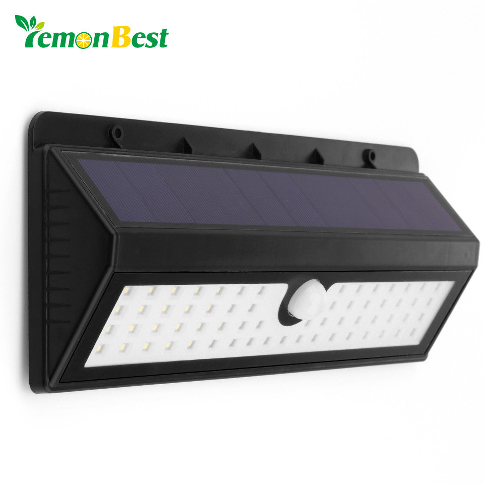 62-LED 2835 SMD Solar Power Light Human Infrared PIR Motion Sensor Outdoor Security Waterproof Lamp for Garden Yard Pathway Wall