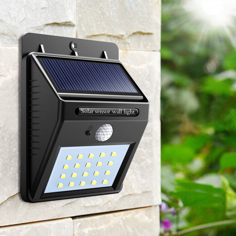 20LED solar powered LED sensor PIR Motion Sensor Wall lamp waterproof outdoor Garden street wall night light security led lamp