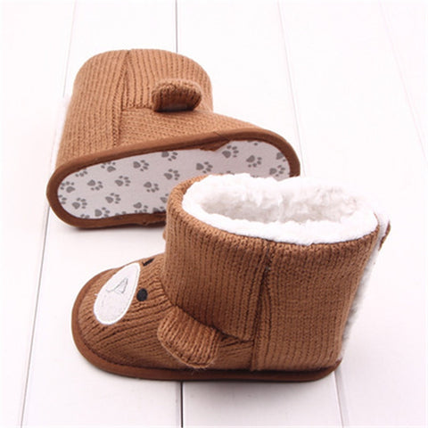 Image of Baby Winter Boots Infant Toddler Newborn Cute Cartoon Bear Shoes