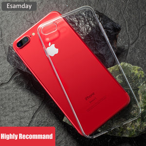 > Clear Silicon Soft TPU Case For 7 7Plus 8 8Plus X XS MAX XR Transparent Phone Case For iPhone 5 5s SE 6 6s 6Plus 6sPlus