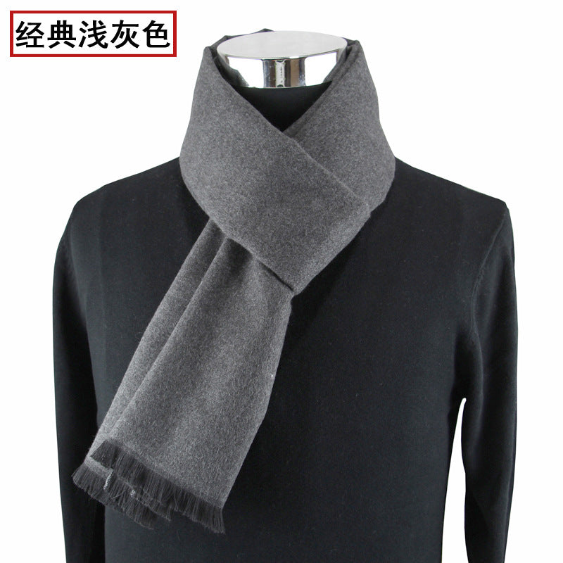 Wool Men/'s casual scarves winter Warm cashmere Scarf luxury Brand High Quality