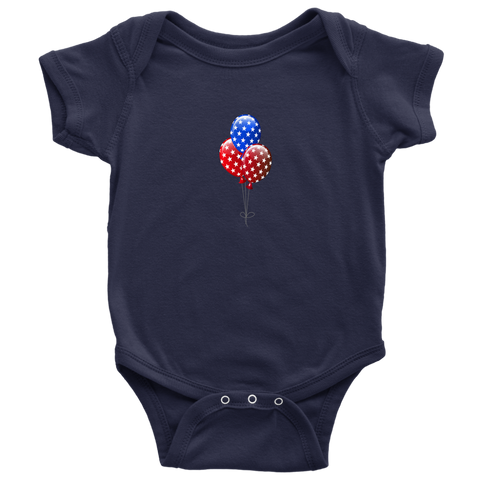 Independence balloons baby body suit