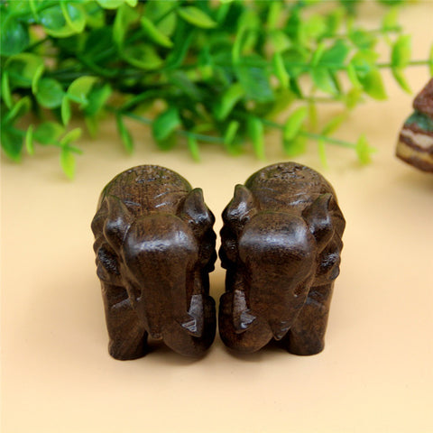 6cm Wood Elephant Miniature