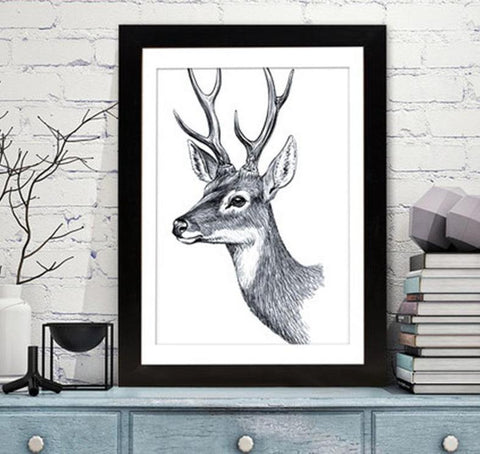 4 inch Rectangle Reindeer Frame Desk