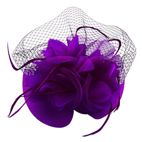 Veil Feather Cocktail Hat