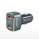 XPower 2nd Gen 2 Port USB 36W Dual Qualcomm ® Quick Charge ™ 3.0 Car Charger 7.2A Max