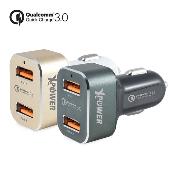 XPower CC2Q3 2 Port Qualcomm Quick Charge 3.0 Car Charger (2nd Gen)