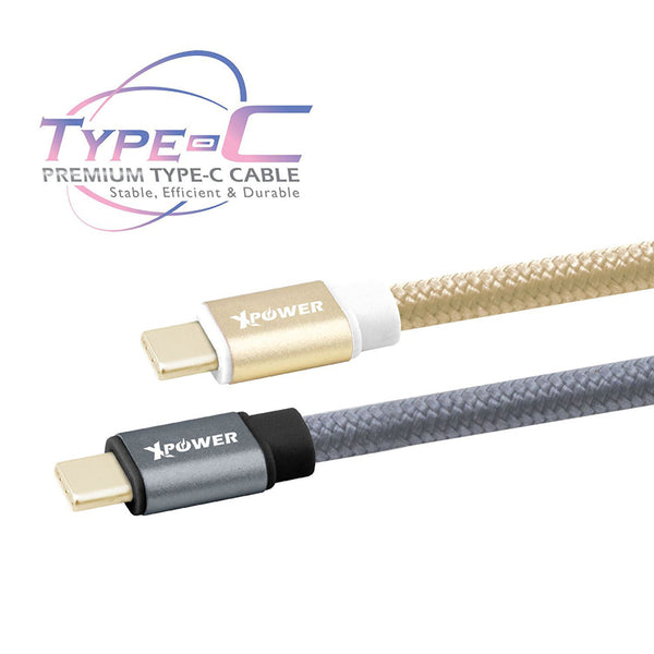 XPower Aluminium Alloy Nylon Type-C to Type-C 3A USB Cable