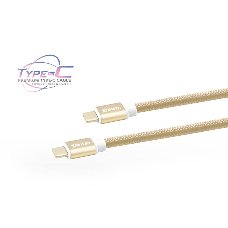 xpower-aluminium-alloy-nylon-type-c-to-type-c-3a-usb-cable-4