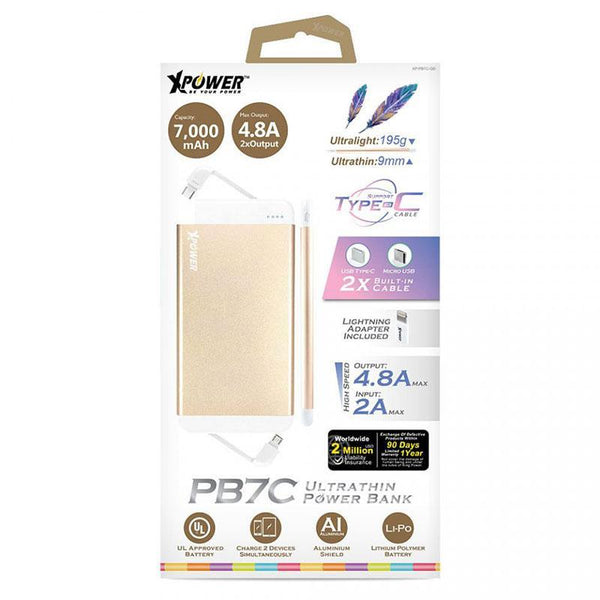 XPower PB7C 7000mAh Ultrathin Type-C Power Bank