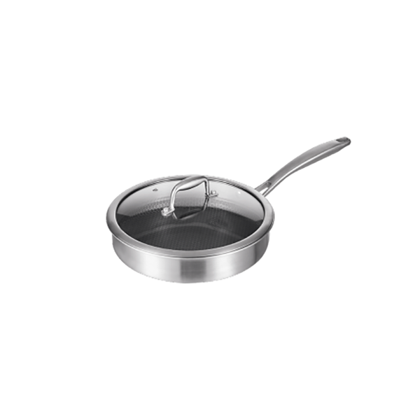 YiWuYiShi Stainless Steel Net Coating Frying Pan