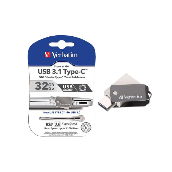 Verbatim USB 3.1 Type-C OTG Drive for Smartphones & Tablets