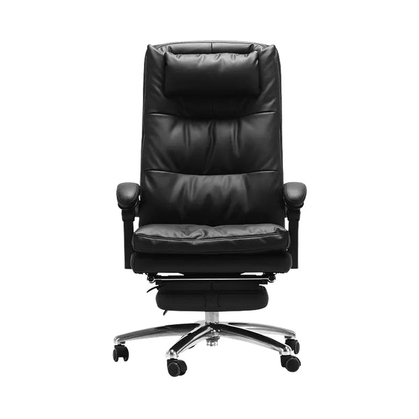 Hbada Leather Boss Chair With Footrest
