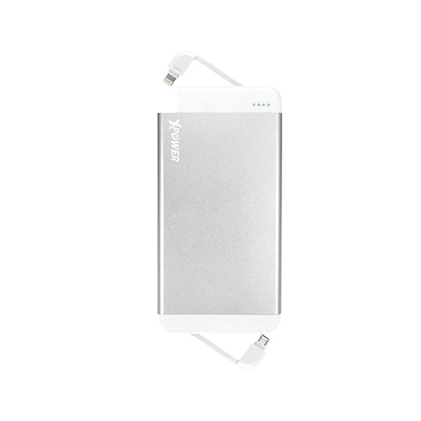 XPower 7000mAh Qualcomm Quick Charge 2.0 Power Bank with dual Built-in MFI Lightning & Micro USB Cable